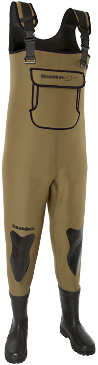 Snowbee Granite Neoprene Combi Felt Sole Chest Waders Junior - 12086jnr-02 Size 5