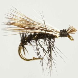 Turrall Caddis /Sedge - Elk Hair Hi-Vis Black - Ca12