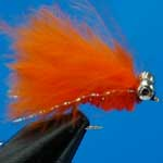 Cats Whisker Orange Bc Lure S/S Trout Fishing Fly #12 (L311)
