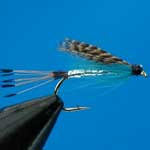 Teal Blue & Silver Wet Trout Fishing Fly