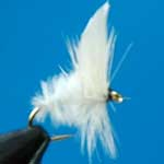 White Moth Dry Trout Fishing Fly