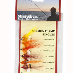 Snowbee Salmon Flame Singles Fly Selection - SF304