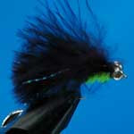 Cats Whisker Black And Green Bc Lure S/S Trout Fishing Fly #10 (L308)