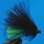Viva Black Mini Lure Trout Fishing Fly #12 (L49)