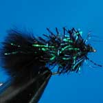 Black Fritz Mini Lure Trout Fishing Fly