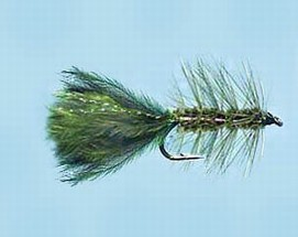 Turrall Damsel Nymphs Woolly Bugger Olive - Wb03