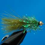 Olive Fritz Gold Head Mini Lure Trout Fishing Fly