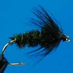 Black & Peacock Spider Wet Trout Fishing Fly #12 (W13)
