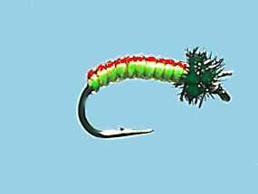Turrall Juicy Grubs Red & Lime - Jg06