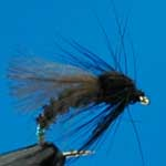 Emerger Buzzer Black CDC Nymph Trout Fishing Fly #12 (N793)