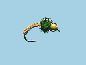 Turrall Bead / Gold Head Brassie Copper - Bh02