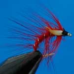 Snatcher Red Jc Wet Trout Fishing Fly #12 (W237)