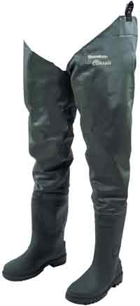 Snowbee Classic Hi-Elastic PVC Thigh Waders - Cleated Sole - 11061.1