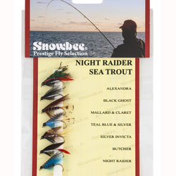 Snowbee Night Raider Sea Trout Fly Selection - SF301