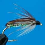 Corixa Pearly Nymph Trout Fishing Fly #12 (N42)