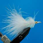 Nomad Fritz White Fritz Gh L/S Trout Fishing Fly #10 (Fr13)