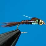 Pheasant Tail Pearly G.H.Nymph S/S Trout Fishing Fly #12 (N464)