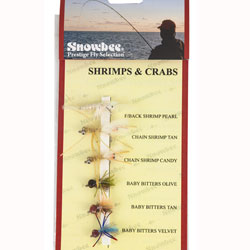 Snowbee Shrimps & Crabs Fly Selection - SF403