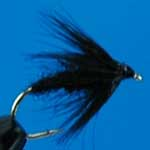 Black Spider Wet Trout Fishing Fly #14 (W34)