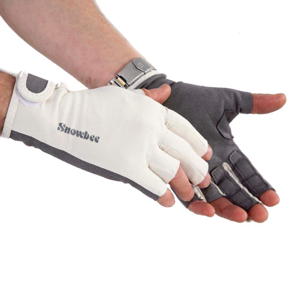 Snowbee sun gloves with stripping fingers 13240 for Fishing sun gloves